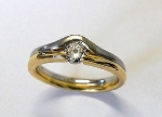 Brillant Ring Platin950-+Gold750/- - 1019500006
