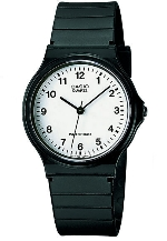 CASIO Q.analog Herrenuhr, arab.Zahl - MQ-24-7BLLGF