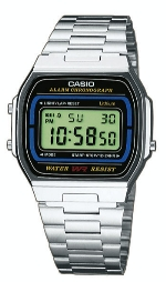 Casio LCD, Resin-Gehäuse,Stahlband - A164WA-1VES