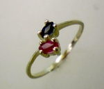 Damen Ring Gold 333/-mitSafir+Rubin - 110/1