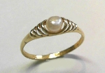 Biwa-Perl Ring Gold 333/- poliert - DRG/66