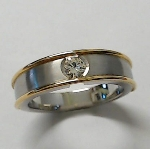 Brillant Ring Platin 950/-+Gold 750/ - 21/3038.141