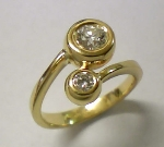 Brillant Damen Ring Gold 750/-GG - 1-8518