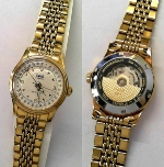 ORIS Damenuhr automatic goldplatt. - 584 7405 45 71