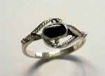 Kinder-Ring Silber 925 mit Onyx - 046/925-5